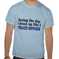 Dressing up as police officer t-shirt
