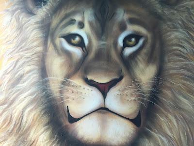 Reykjavik Mural Lion