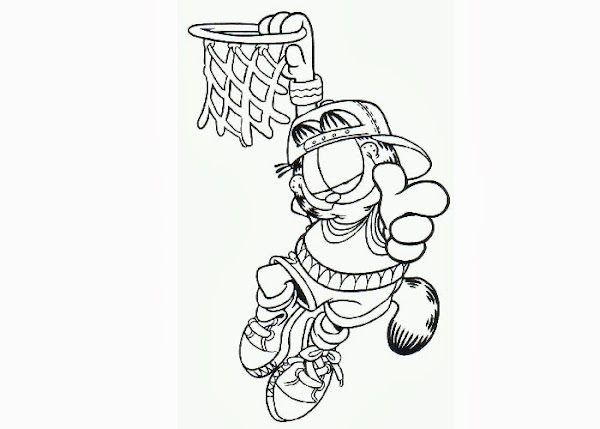 Garfield Coloring Page - Eskayalitim