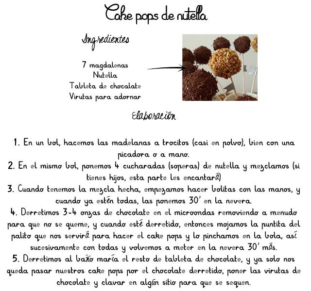 cómo hacer cake pops de nutella, receta rápida y fácil