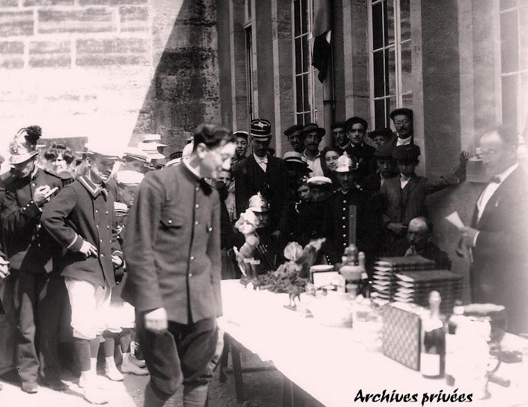 Remise de prix à un concours de tir vers 1910