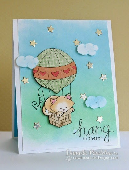 Cupcake Inspriations Challenge - Sparkle | Card by Danielle Pandeline | Newton's Nook Designs Stamps