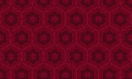 Hollyhock Red Pattern