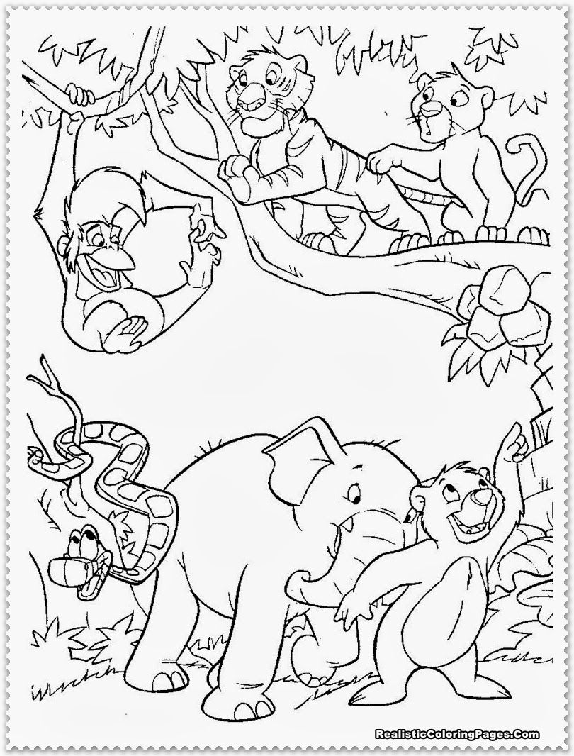 coloring pages jungle scenes - photo#39