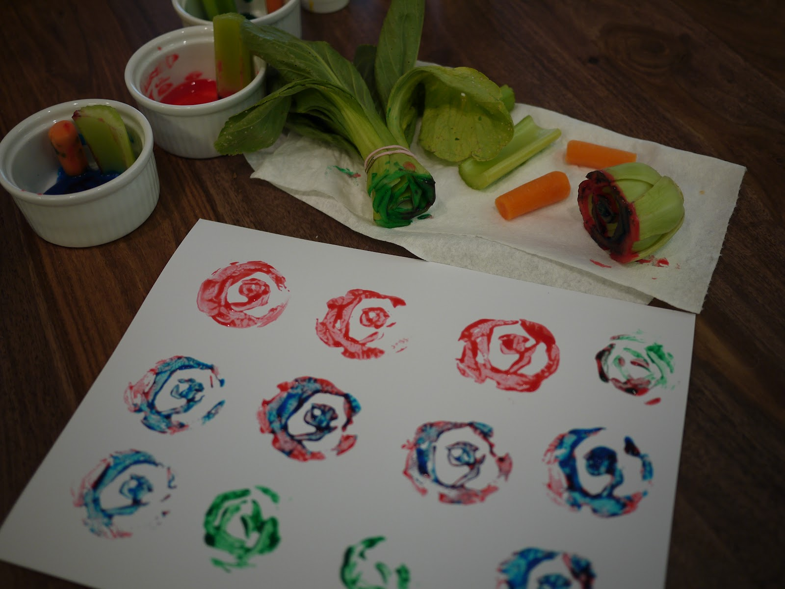 little hiccups painting with vegetables