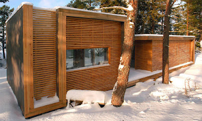 wooden home  - ecological design