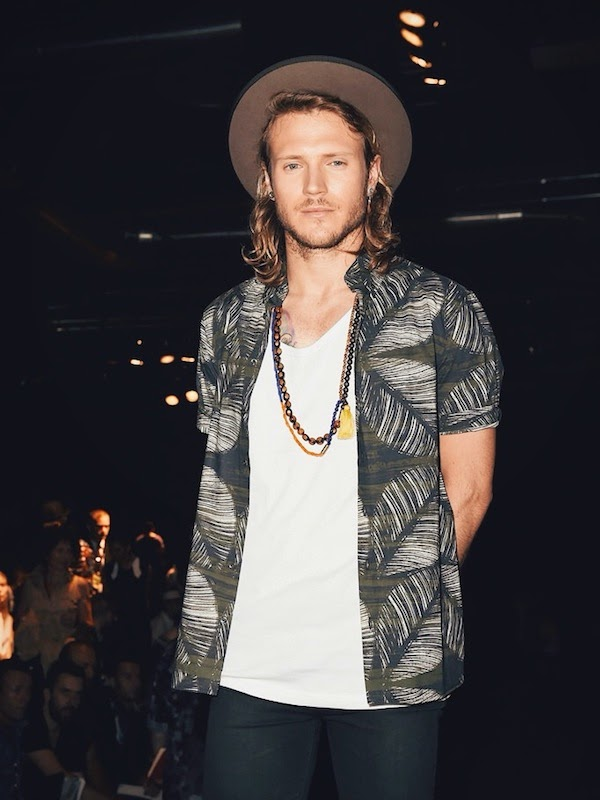 McFly Dougie Poynter at DSquared2 show Milan Menswear Fashion Week Spring Summer 2015