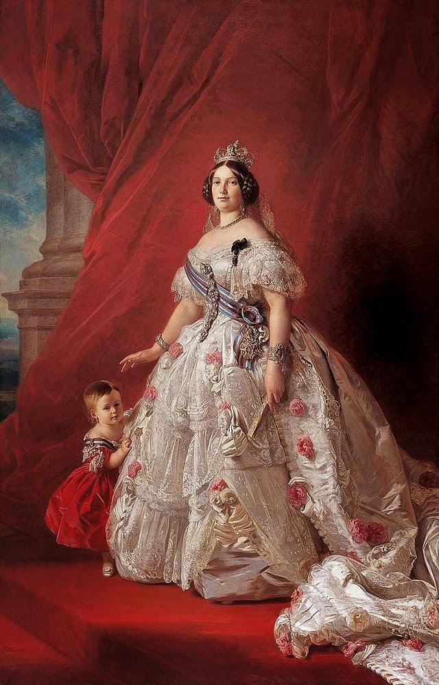 Isabel II de España obra de Franz Xavier Winterhalter de Alemania