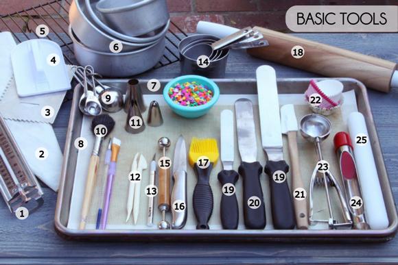 Basic Cake Decorating Tools