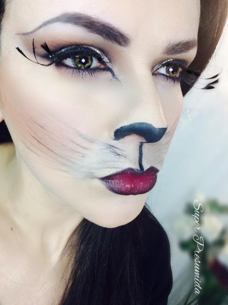 tutorial+halloween+gata+gata sexy+video+blog+maquiagem+halloween gata sexy