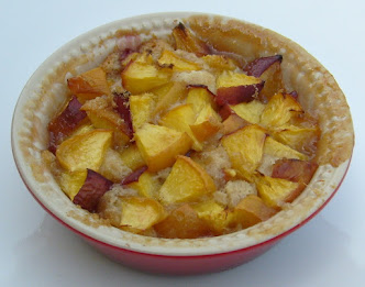 peach cobbler for one