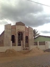 Templo evangélico no Brejo Velho em construção