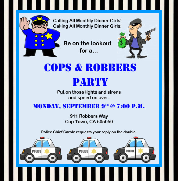 Invite And Delight Cops And Robbers Party