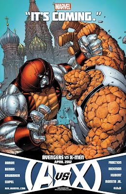 "Avengers vs X-Men ""It's Coming"" Promo Image - Colossus vs Thing"