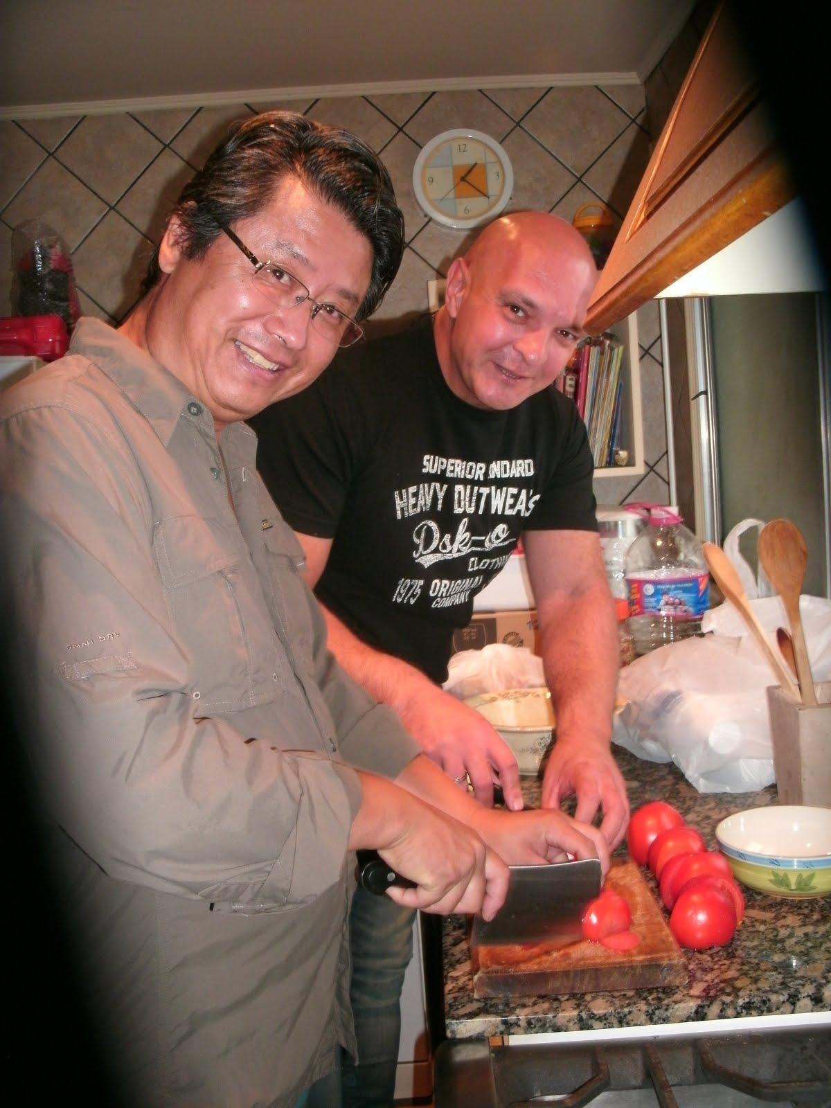 Junto al maestro y chef Alejandro Aizawa