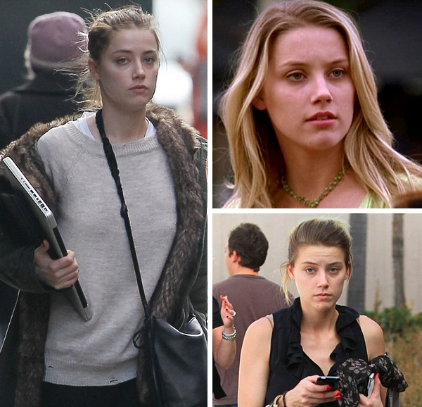 Amber heard no makeup