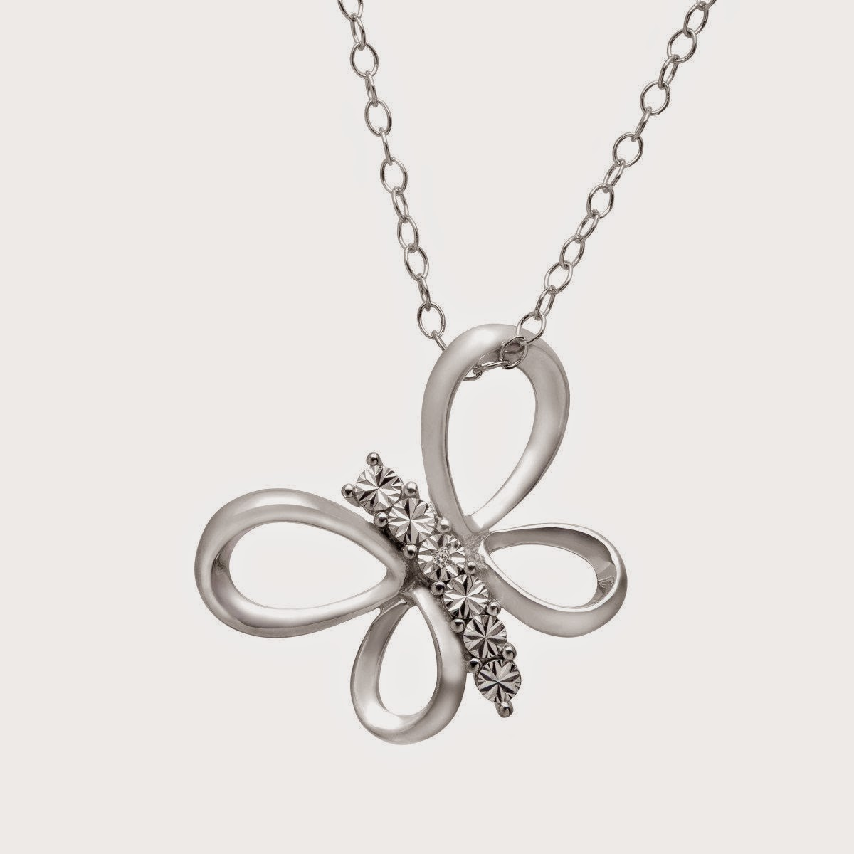 Butterfly Pendant with Diamonds