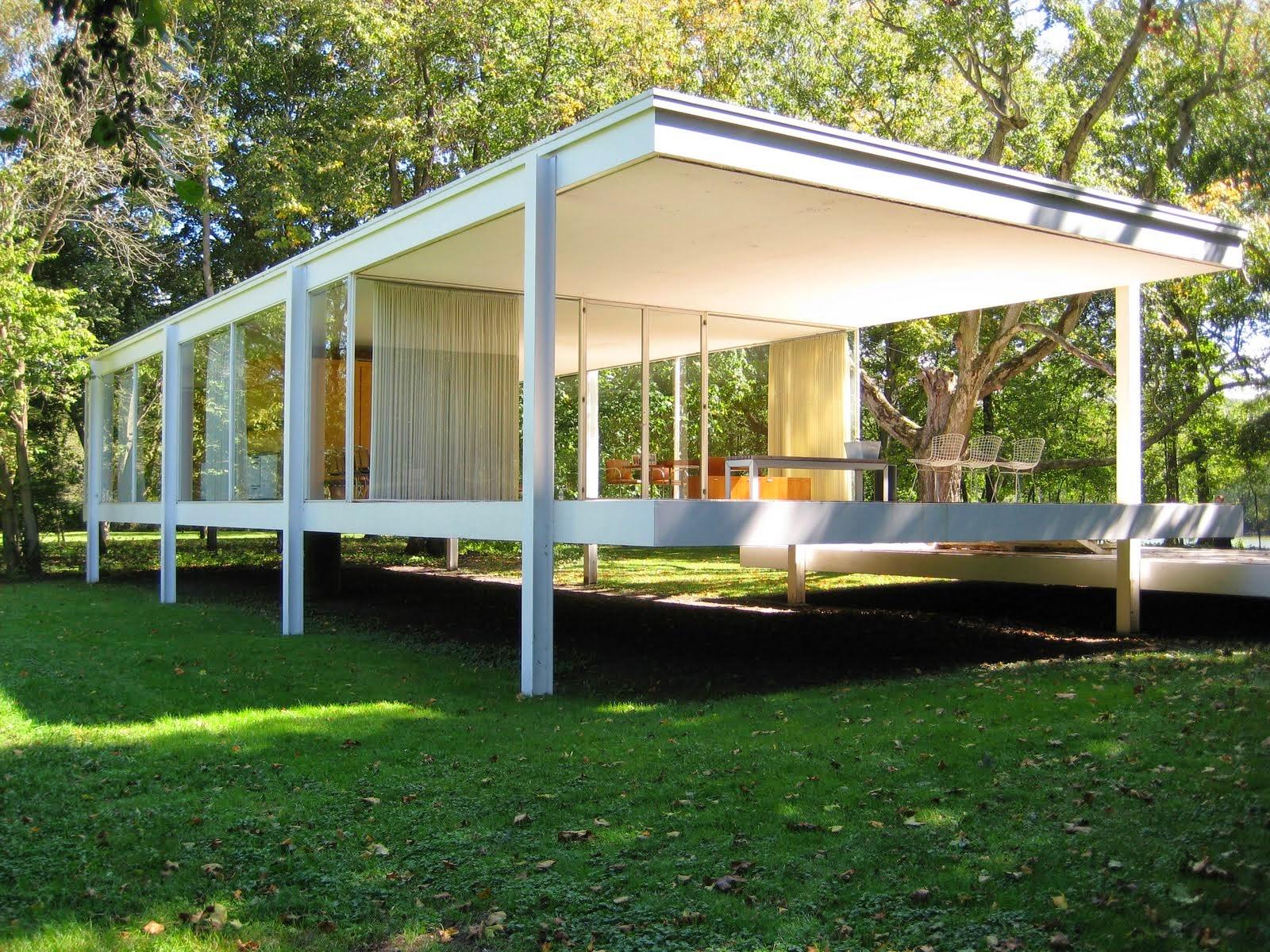 Casa farnsworth farnsworth house arquitectura asombrosa for Casa minimalista de mies van der rohe