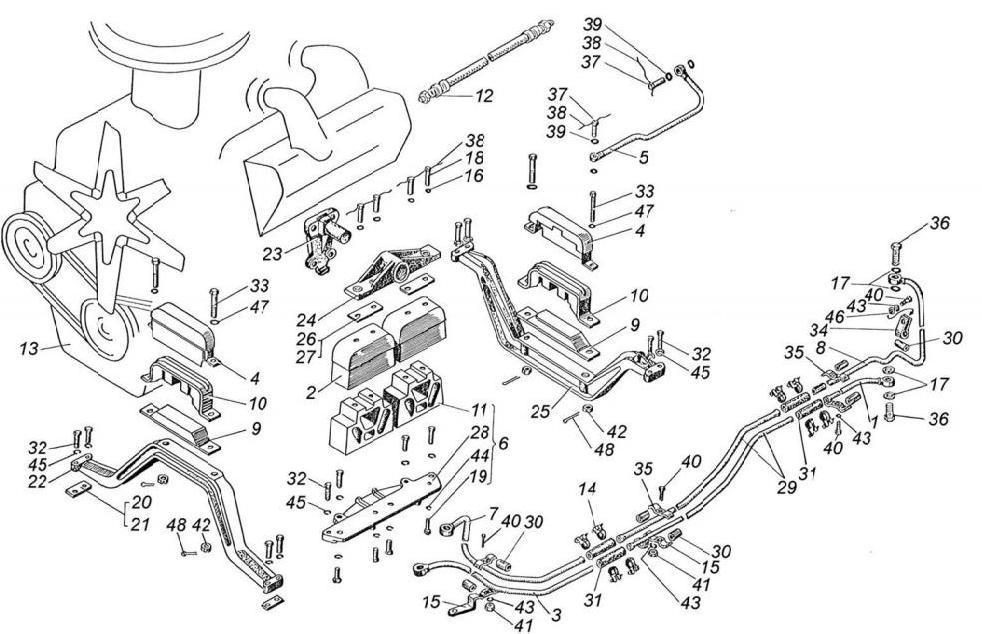 Схема установки двигателя