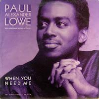 Paul Alexander Lowe - When You Need Me (CDM) (1991)