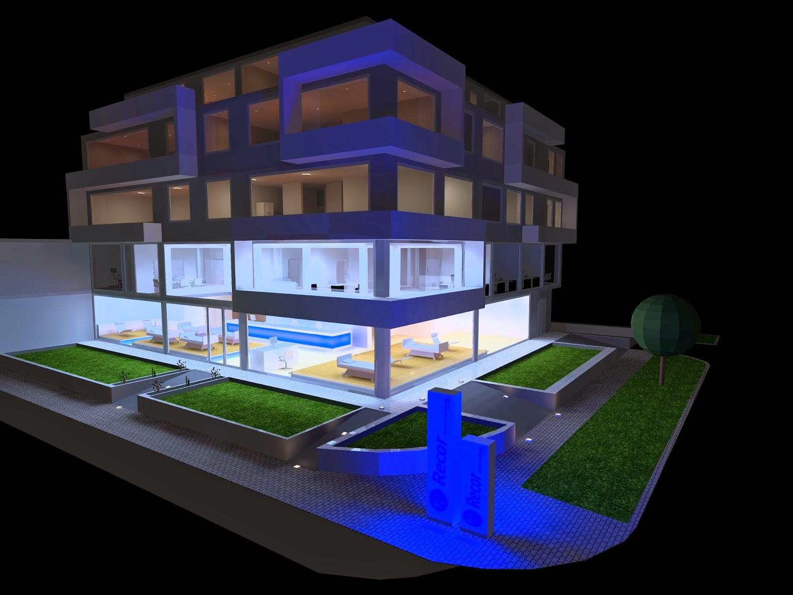 Dise os virtuales en dialux electroazuay cia ltda - Iluminacion led decorativa ...