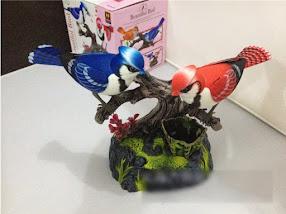 2 Con Chim Nhựa Cảm Ứng Hót Theo Âm Thanh