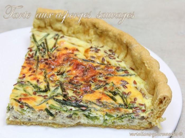 variations gourmandes tarte aux asperges sauvages petit 233 peautre et huile d olive