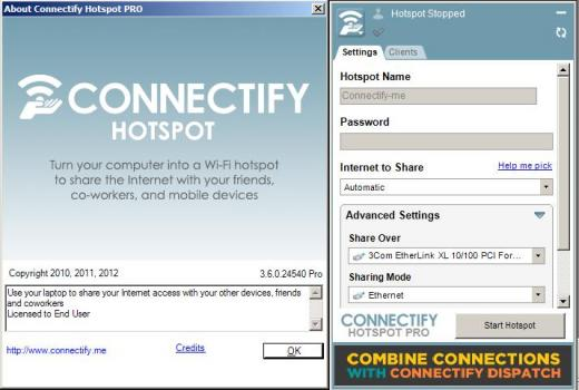 connectify hotspot setup free download