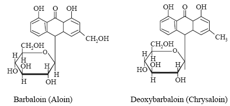 barbaloin and deoxybarbaloin