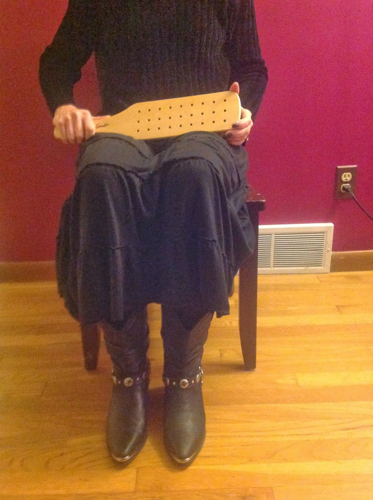 My Goddess/Wife with the Spencer paddle!!!