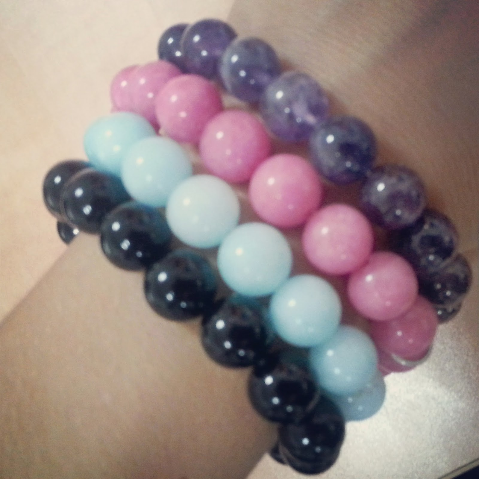 colors bead bracelets