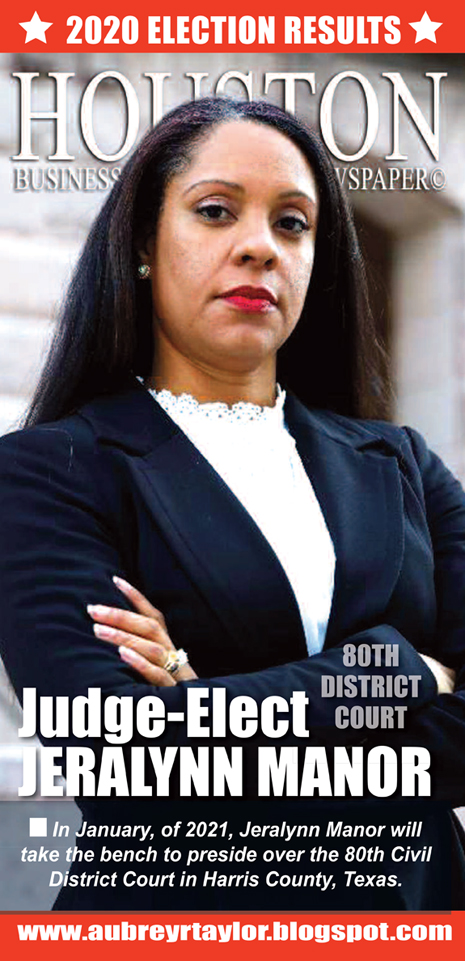 Our client Judge-Elect Jeralynn Manor Defeated her Republican Rival on November 3, 2020