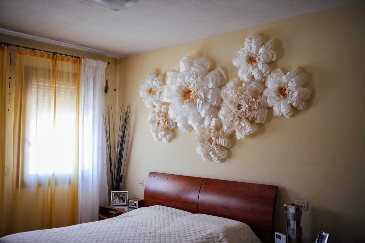 Incartesimi decorazione a parete con fiori giganti - Decorare pareti camera ...