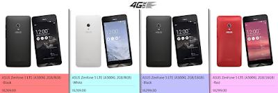 harga asus zenfone 5 a500kl 2GB 8 GB 16 GB