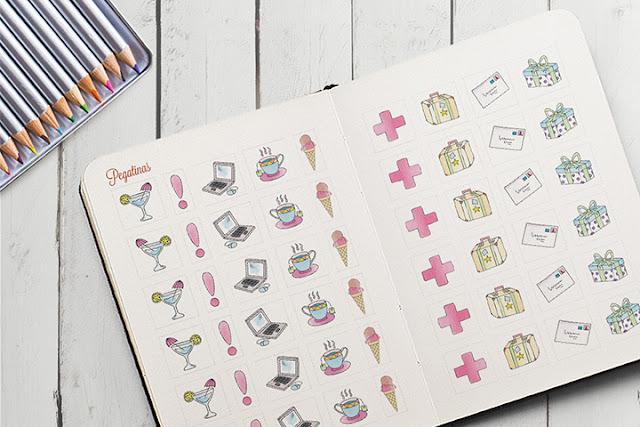 Pegatinas para personalizar la agenda para colorear 2016