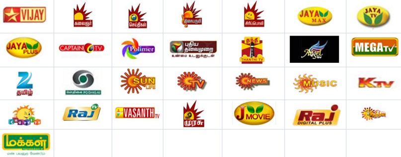 tamil tv channels list of all tamil channels