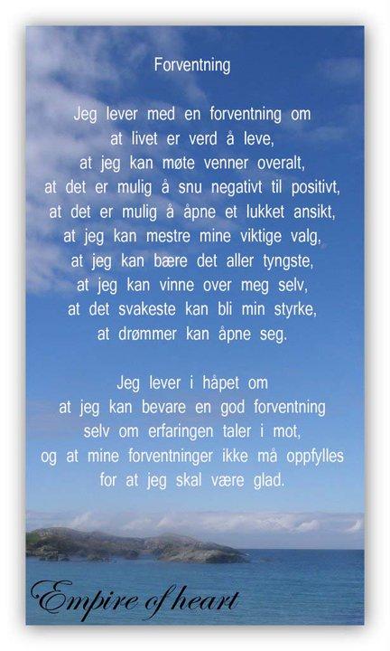 fint dikt om livet