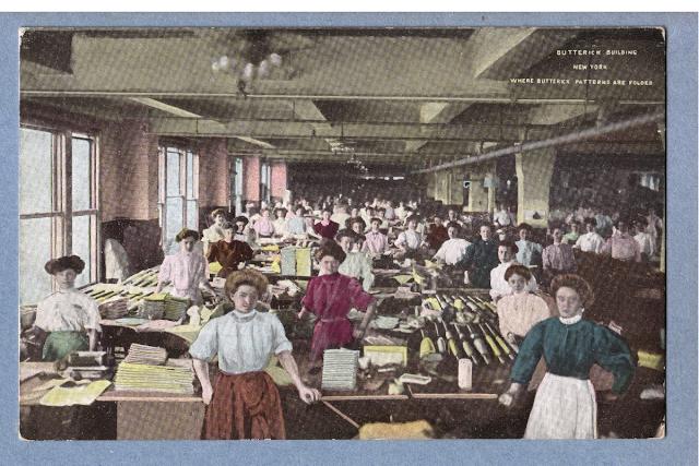 Butterick Patterns shop floor (Image courtesy Ebay seller)