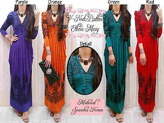 Dress Lebaran Etnic Dress Maxi Modis dan Anggun