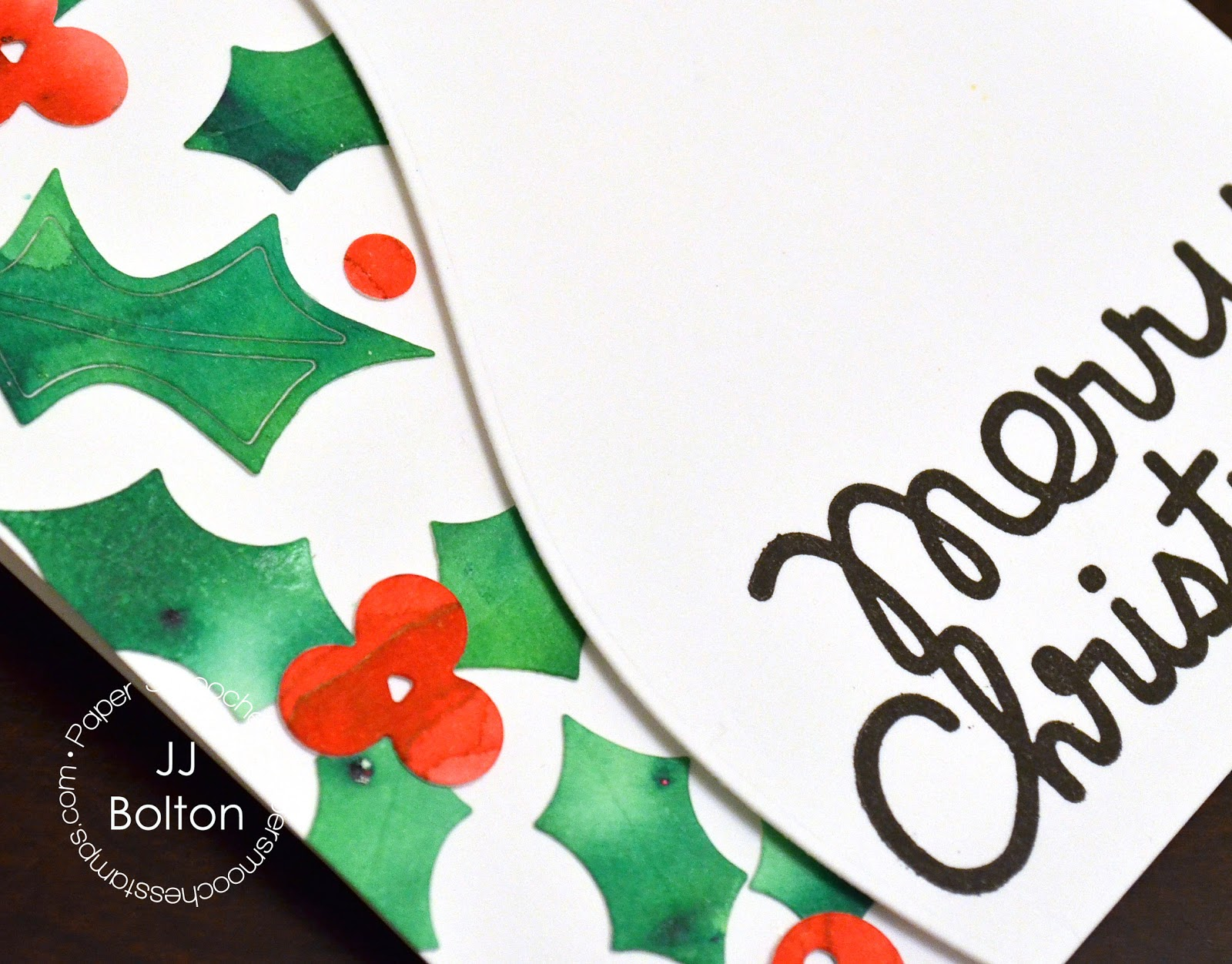 jj bolton {handmade cards}: Christmas Cards with Paper Smooches