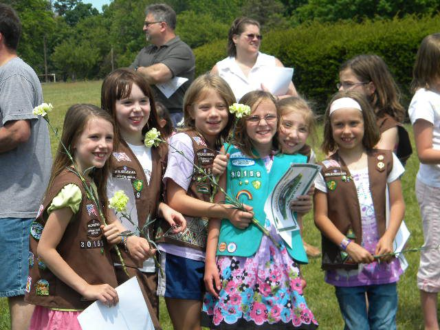 Girl scouts bridging ceremony