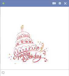 Birthday Cake Facebook Sticker