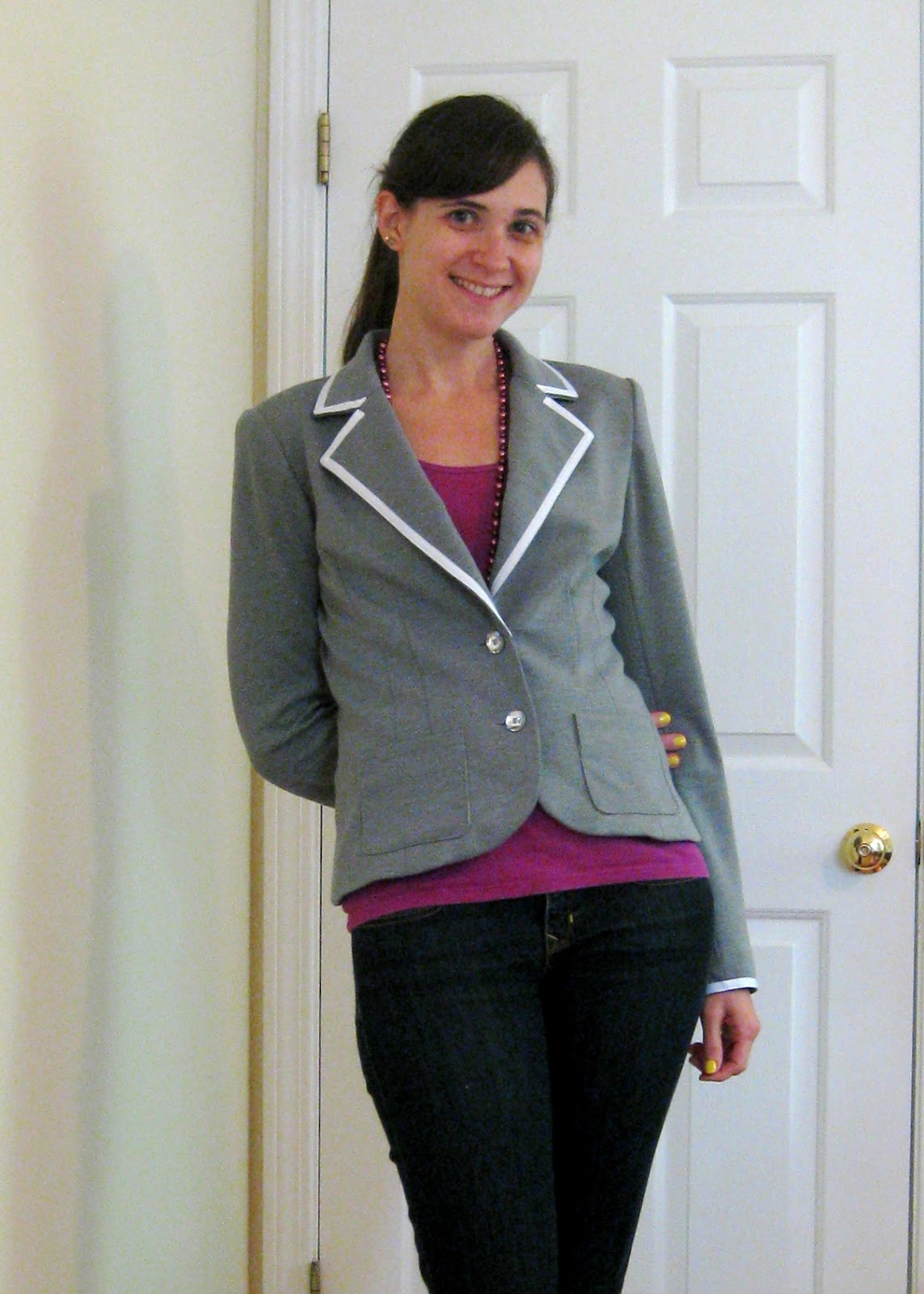 notes from a mad housewife: knit blazer LOVEFEST