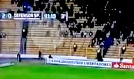 Ghost Appears In Stadium During Football Match In Bolivia