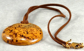 Designed by Val's Carmel Kazuri Necklace available on etsy