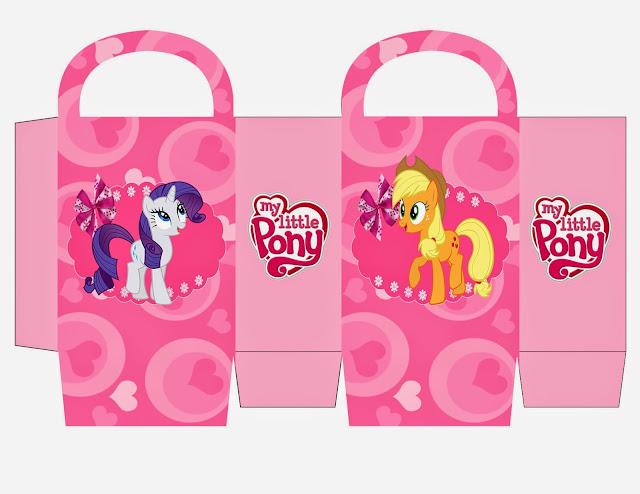 Cajas para Imprimir Gratis de My Little Pony.