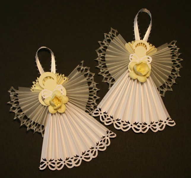 Christmas Crafts Paper Angels : The paper trail on second day of christmas