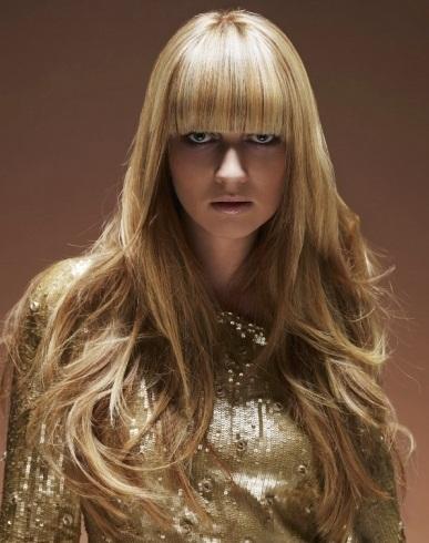 Glossy Long Hair Style 2014