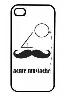 iphone cover with mustache math pun illustration