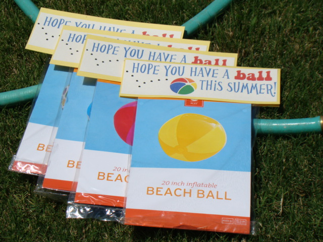 Bright image in have a ball this summer free printable